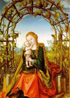 Lucas Cranach the Elder (1472-1553):  Virgin of the Grapes (601x858)