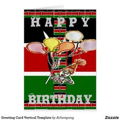 Greeting Card Vertical Template Hakuna Matata Birthday Cards & Invitations e #Amazing #beautiful #stuff and #gift #products #sold on #Zazzle #Achempong #online #store #for #the #ultimate #shopping #experience