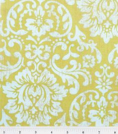Shabby Chic Green and Blue Damask - Colorblok - Quilting Cotton - BTY