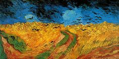 Wheatfield with Crows, Vincent van Gogh. One of my favorites, I'm in love with the blue colors.