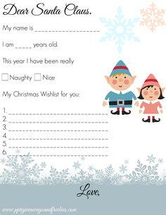 Free Dear Santa Printable Set  Dear Santa Santa Letter Printable