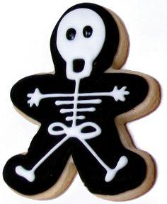 Spooky Skeleton Cookie by CookiesBySteph, via Flickr