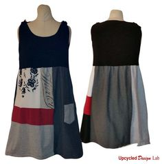 Upcycled T shirts! Sundress Refashion by Upcycled Design Lab