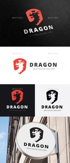 King Dragon by babeer Logo Description:The logo is Easy to edit to your own company name.The logo is designed in vector for highly resizable and printi