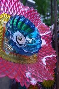 Image detail for -... glass and vintage plates and turning them into colorful glass flowers