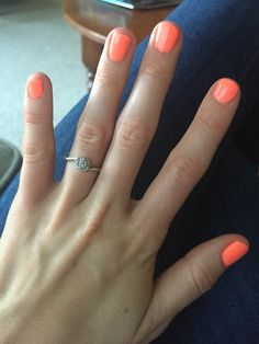 Love the bright colors for summer! Coral Color, Bright Colors, Hair And Nails, My Nails, Shellac Nails, Summer Nails, Cute Nails, Nail Ideas, Hair Beauty