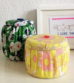 Alibaba 60's fabric pots Bettyjoy tutorials