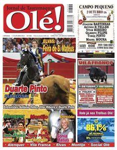 Pátio de Quadrilhas: Capa da Edição Nº 337 do Jornal Taurino Olé!