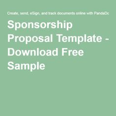 this free sponsorship proposal template can help persuade businesses to sponsor your event or product making sure to focus on the audience and benefits. Resume Example. Resume CV Cover Letter