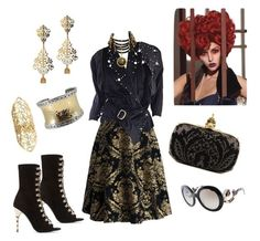 """Baroque  style"" by carla1509 on Polyvore featuring moda, Chicwish, Chanel, Balmain, Alexander McQueen, John Hardy y Prada"