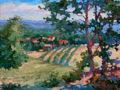 Matthias Fischer - VineyardViews_Oil-Canvas_12x16