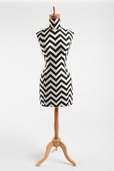 Black and white zig zag dress form from Urban Outfitters.  Love but at $300 I don't see it happening.
