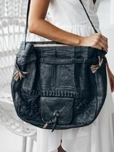 Handmade Leather Shoulder Bag - GFM -giftsfrommorocco-morocco leather