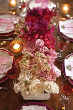 Classically elegant with modern flair, this romantic Valentine's Day table setting makes for a beautiful celebration.