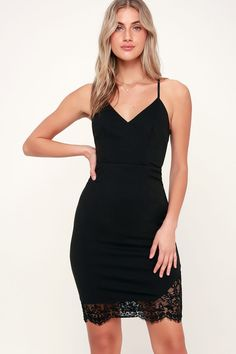 280dc0a63778c Lulus | Romantic Gesture Black Lace Bodycon Midi Dress | Size X-Large | 100%  Polyester