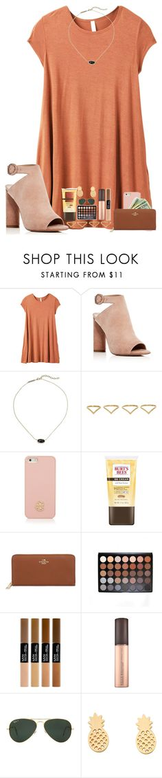 """""""Colors of the rainbow contest: orange"""" by ajgswim on Polyvore featuring RVCA, Kendall + Kylie, Kendra Scott, Ana Khouri, Tory Burch, Burt's Bees, Coach and Ray-Ban"""