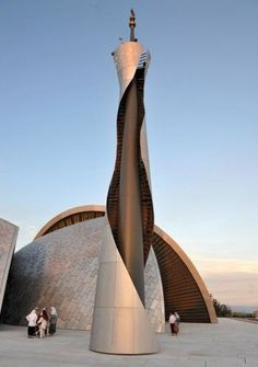 Rijeka Camii, Hırvatistan (official name of Croatia) Sacred Architecture, Mosque Architecture, Religious Architecture, Futuristic Architecture, Beautiful Architecture, Architecture Design, Beautiful Mosques, Islamic World, Islamic Art