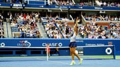 9/12/15 HISTORY MAKING FLAVIA: Flavia Pennetta joined Kim Clijsters as only the second woman ranked outside the top 10 to win the US Open. Flavia reaches a career high World #8 with the title win. -- In 1999, Flavia & Roberta beat Clijsters & Buric in doubles for the Junior French Open title. Kim Clijsters and Jelena Dokić were the defending champions, but only Clijsters competed that year with Mia Buric.