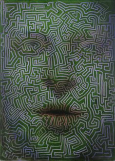 Maze Face by Brad Noble