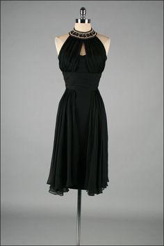 Vintage 1950s Dress LILLI DIAMOND Black by mill street vintage, $315.00