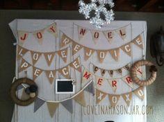 holiday banners - loveinamasonjar.com