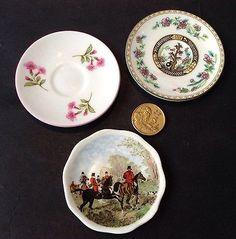 Vintage Bone China Mini Plates x3 Shelley Coalport (Indian Tree) Staffordshire