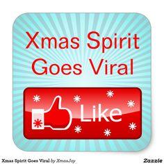 Xmas Spirit Goes Viral Square Sticker