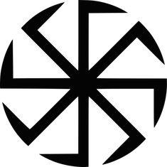 Swastika - Wikipedia, the free encyclopedia: Słoneczko or Коловрат (Kolovrat) is an Early Slavic pagan symbol of Svarog the sun god. History Of The Swastika, Odin And Thor, Eslava, Russian Tattoo, Asgard, Cradle Of Civilization, Tattoo Project, Mirror Image, Face Art