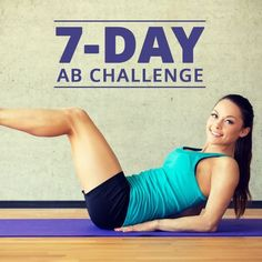 Pair this 7 Day Ab Challenge with a clean diet and you can sculpt some beautiful abs!  #abchallenge #abs #flatbelly