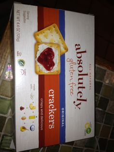 GFCF, soy  & corn free crackers