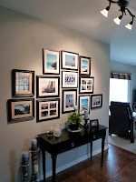 Picture wall/gallery wall, horizontal treatment over console