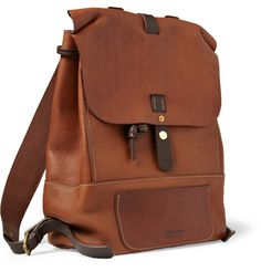 Bill AmbergHunter Full-Grain Leather Backpack