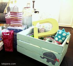 DIY Painted Crate