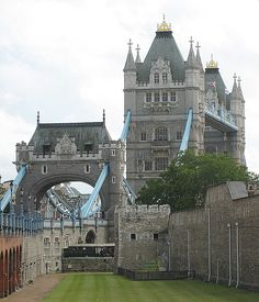 Tower Bridge next to Tower of London grounds
