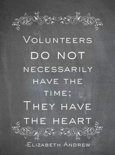 We heart our volunteers!