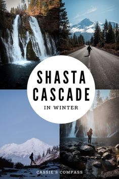 Winter is one of the best times to road trip the Shasta Cascade. Get the perfect 3 day Shasta California itinerary including all the best Mt Shasta Instagram photo spots   Instagrammable places Mt Shasta   things to do in Shasta   Shasta Cascade 3 day itinerary   Shasta Redding Lassen Itinerary   Shasta Redding Lassen in Winter   Burney Falls in winter   Upstate California photo spots   things to do in Redding California   where to stay in Redding   Lassen Volcanic National Park in winter Us Travel Destinations, Places To Travel, Cool Places To Visit, Places To Go, Burney Falls, Redding California, West Coast Road Trip, Travel Ideas, Travel Inspiration