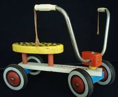 Aaron once rode one of these down the basement stairs at Jimmy and Dala's house.