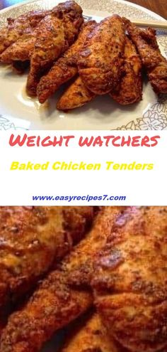 Chicken Tenders (One Taste and You're Addicted) - Weight Watchers Recipes (Family) - Poulet Weight Watchers, Plats Weight Watchers, Weight Watchers Chicken, Chicken Strip Recipes, Chicken Tender Recipes, Healthy Chicken Recipes, Baked Chicken Tenders Healthy, Baked Chicken Strips, Weight Watcher Dinners