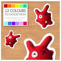 "Mini Felt Monster Plush Toy by BABUA - ""George"" - 12 Colors on Etsy, $4.90"