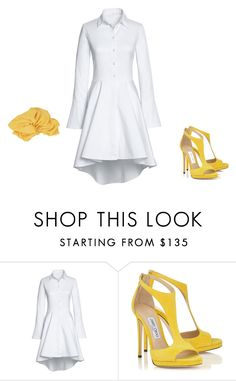 """""""yellow and white"""" by whatever222 ❤ liked on Polyvore featuring Lands' End and Gucci"""