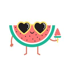 StickerPop — Summer Sweets Peeps by StickerPop Vintage Flowers Wallpaper, Flower Wallpaper, Painting For Kids, Art For Kids, Watermelon Painting, Cute Watermelon, Kawaii Illustration, Bullet Journal Themes, Cute Pins