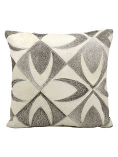 Leather Hide Pillow by Nourison at Gilt