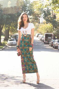 African clothing, Africa skirt, African fabric, High Waist Maxi Skirt, Pencil skirt, High waist skirt, African skirt, Ankara fabric (Tyra P)
