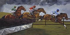 """Racing the Storm by Sharon Crute  ~ 24"""" x 48"""""""