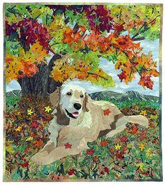 """Autumn Color"" is a quilt made by Hiroko Miyama of Tokyo, Japan. See more of her work at hirokomiyama.com."