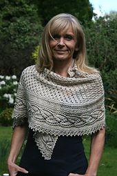 """""""Miss Dashwood"""" is a second shawl in a series of """"Jane Austen Heroines"""". It is a timeless and feminine piece with intricate design."""