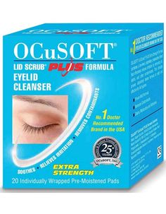 OCUSOFT Plus Lid Wipes X 20 OCuSOFTampnbsp Plus wipesampnbsp are effective and intended for continuous daily eyelid hygiene use.ampnbsp The root cause of anterior blepharitis is the overproduction of oils.ampnbsp Mild surfactant http://www.MightGet.com/may-2017-1/ocusoft-plus-lid-wipes-x-20.asp