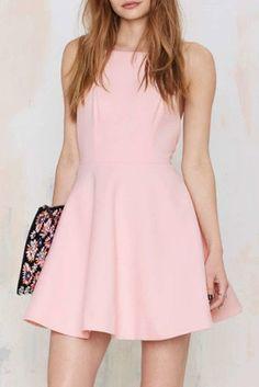 Women's fashion   A-line pink pastel little dress
