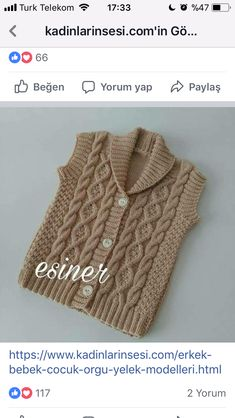 Easy Knitting Patterns for Beginners - How to Get Started Quickly? Baby Knitting Patterns, Knitting For Kids, Easy Knitting, Crochet For Kids, Sweater Hat, Baby Cardigan, Cotton Sweater, Boys Sweaters, Diy Clothes