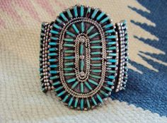 Native American Petit Point Turquoise and by CawarraCraftsPlus